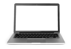 Laptop with blank screen Stock Image