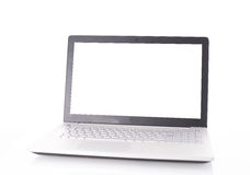Laptop with blank screen isolated on white Stock Photo