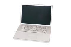 Laptop with blank screen Stock Images