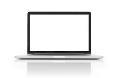 Laptop with blank space on white background Stock Image