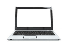 Laptop with Blank White Screen Royalty Free Stock Photos