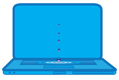 Laptop blue Stock Image