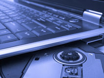 Laptop in blue tone Royalty Free Stock Photos