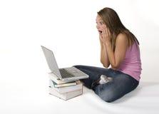 Laptop blundert Stock Fotografie
