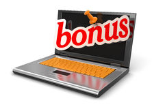 Laptop and bonus (clipping path included) Royalty Free Stock Photo