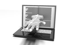 Laptop in book form. Internet library. Changing sources Royalty Free Stock Image