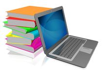 Laptop and books Royalty Free Stock Image