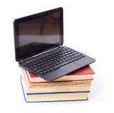 Laptop on books Royalty Free Stock Photo