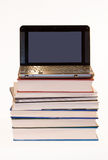Laptop on books Stock Image
