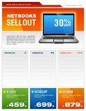 Laptop Brochure Royalty Free Stock Images