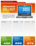 Laptop-Broschüre Lizenzfreie Stockbilder