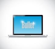 Laptop bullet message illustration design Stock Photos