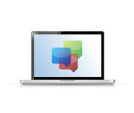 Laptop business communication chat. illustration Royalty Free Stock Images