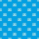 Laptop with business graph pattern seamless blue. Laptop with business graph pattern repeat seamless in blue color for any design. Vector geometric illustration Royalty Free Stock Photos