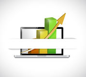Laptop business graphic illustration design Stock Photography