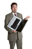 Laptop Business Man Stock Photo