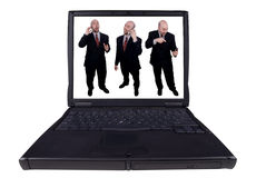 Laptop business men Royalty Free Stock Image