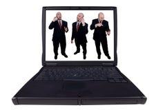 Laptop business men Royalty Free Stock Image