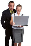 Laptop Business People Stock Images