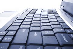 Laptop,  business technology, button, key Royalty Free Stock Photos