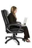 Laptop Business Woman Royalty Free Stock Image