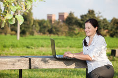 Laptop business woman Stock Photos