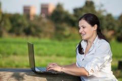 Laptop business woman Stock Photos