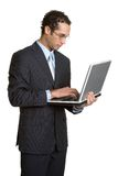 Laptop Businessman Royalty Free Stock Photography