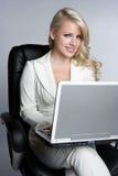 Laptop Businesswoman Stock Photo