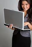 Laptop Businesswoman Royalty Free Stock Image