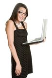 Laptop Businesswoman Stock Photography