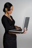 Laptop Businesswoman Stock Image