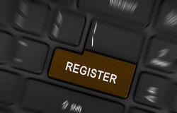 Laptop button - Register Royalty Free Stock Photography