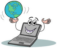 Laptop cartoon Stock Images