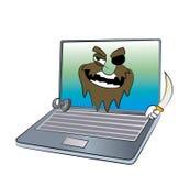 Laptop cartoon Stock Photography