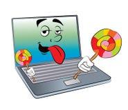 Laptop cartoon Royalty Free Stock Photo