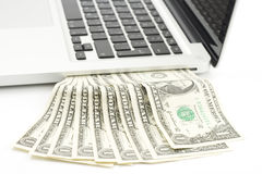 Laptop cash Stock Photos