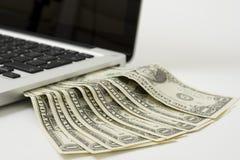 Laptop cash Royalty Free Stock Photography