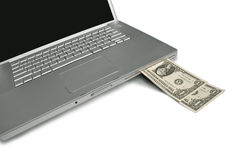 Laptop Cash Machine Royalty Free Stock Images