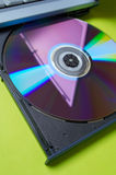 Laptop: CD Stock Afbeelding