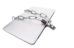 Laptop and Chains IX Stock Photo