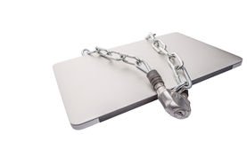 Laptop and Chains V stock images
