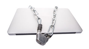 Laptop and Chains VII Royalty Free Stock Photos