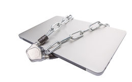Laptop and Chains VIII royalty free stock photos