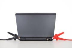 Laptop Charging Stock Image