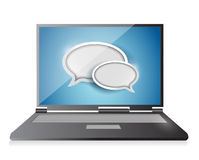 Laptop chat concept illustration design Stock Image
