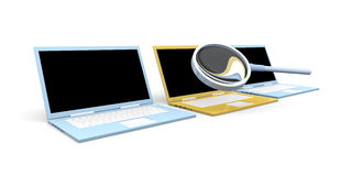 Laptop Check Stock Photo