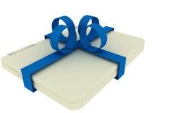 Laptop Christmas gift Royalty Free Stock Photo