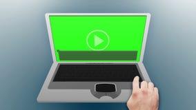 Laptop in chroma key stock illustration