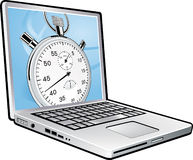 Laptop chronometer Stock Illustratie